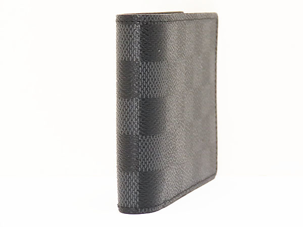 超美品 ルイヴィトン ダミエグラフィット ポルトフォイユ ミュルティプル 二つ折り札入れ財布 コンパクト財布 N62663_画像3