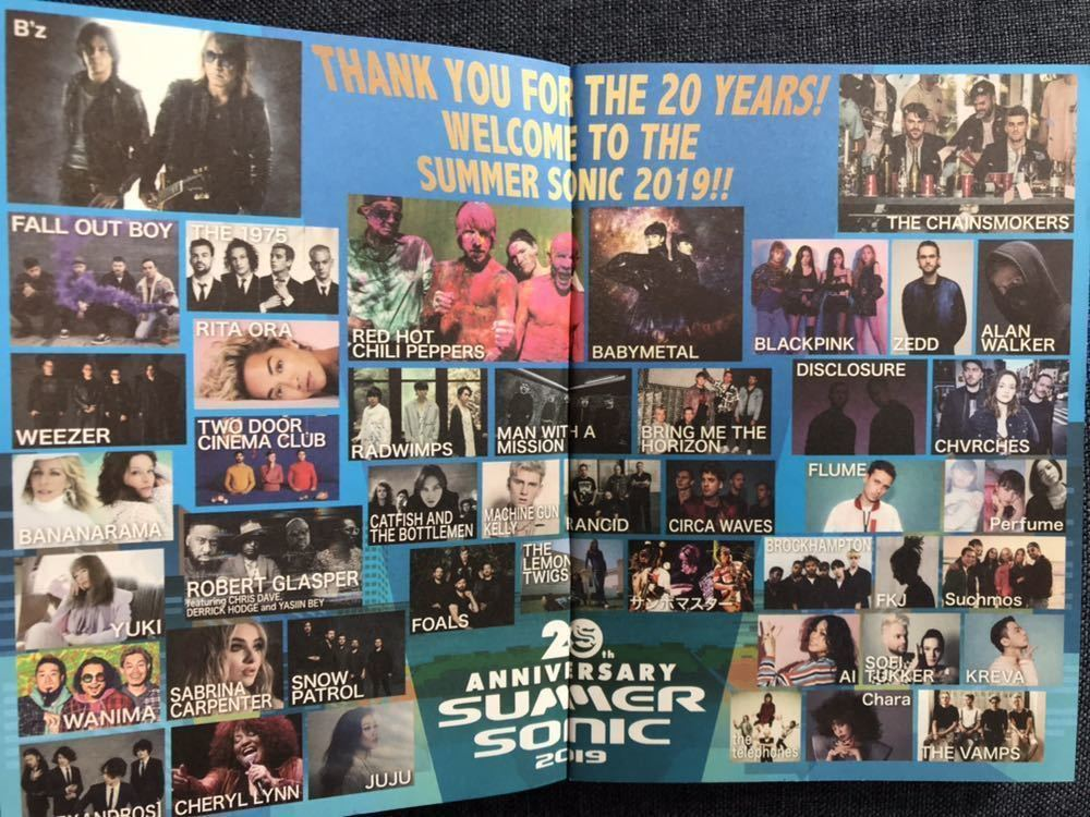 SUMMER SONIC 2019 東京8/16 ピクニックボックスパス 冊子付き サマーソニック サマソニ B'z The 1975 Weezer YUKI WANIMA [Alexandros] 他_画像4