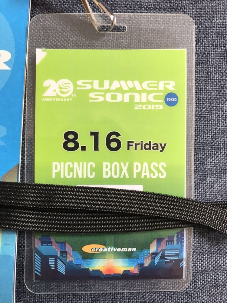 SUMMER SONIC 2019 東京8/16 ピクニックボックスパス 冊子付き サマーソニック サマソニ B'z The 1975 Weezer YUKI WANIMA [Alexandros] 他_画像3