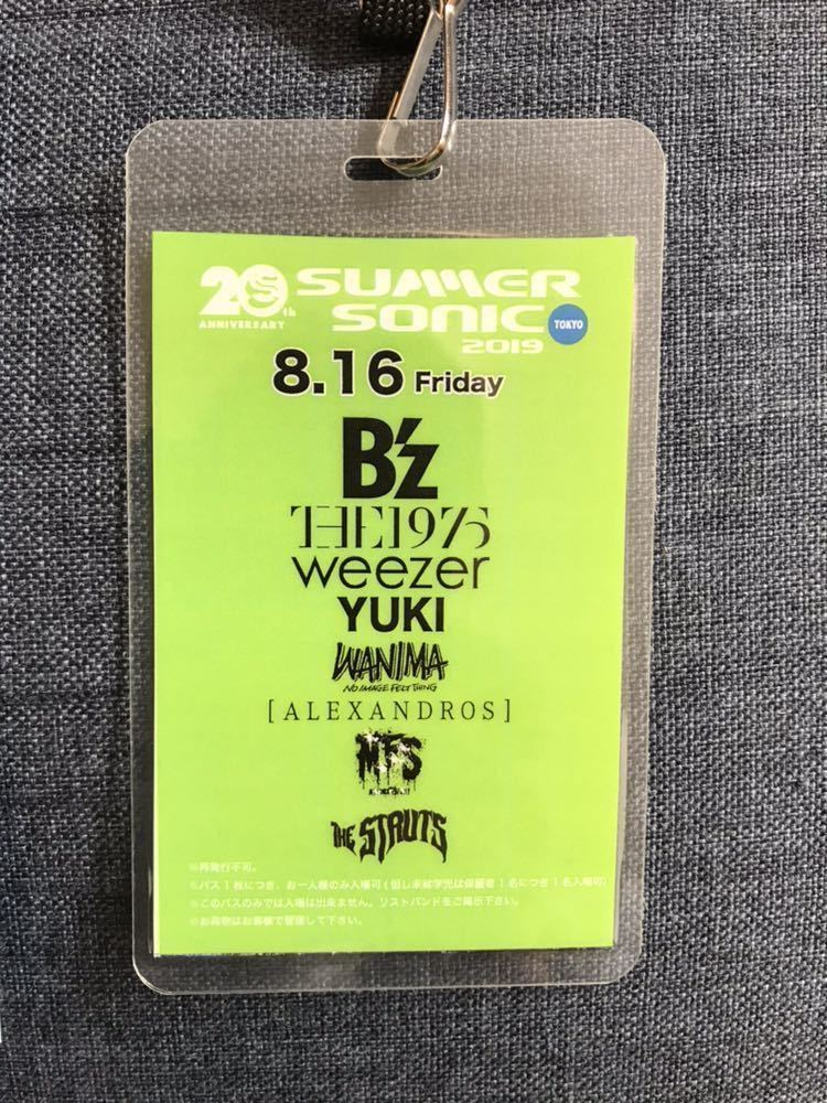 SUMMER SONIC 2019 東京8/16 ピクニックボックスパス 冊子付き サマーソニック サマソニ B'z The 1975 Weezer YUKI WANIMA [Alexandros] 他_画像2