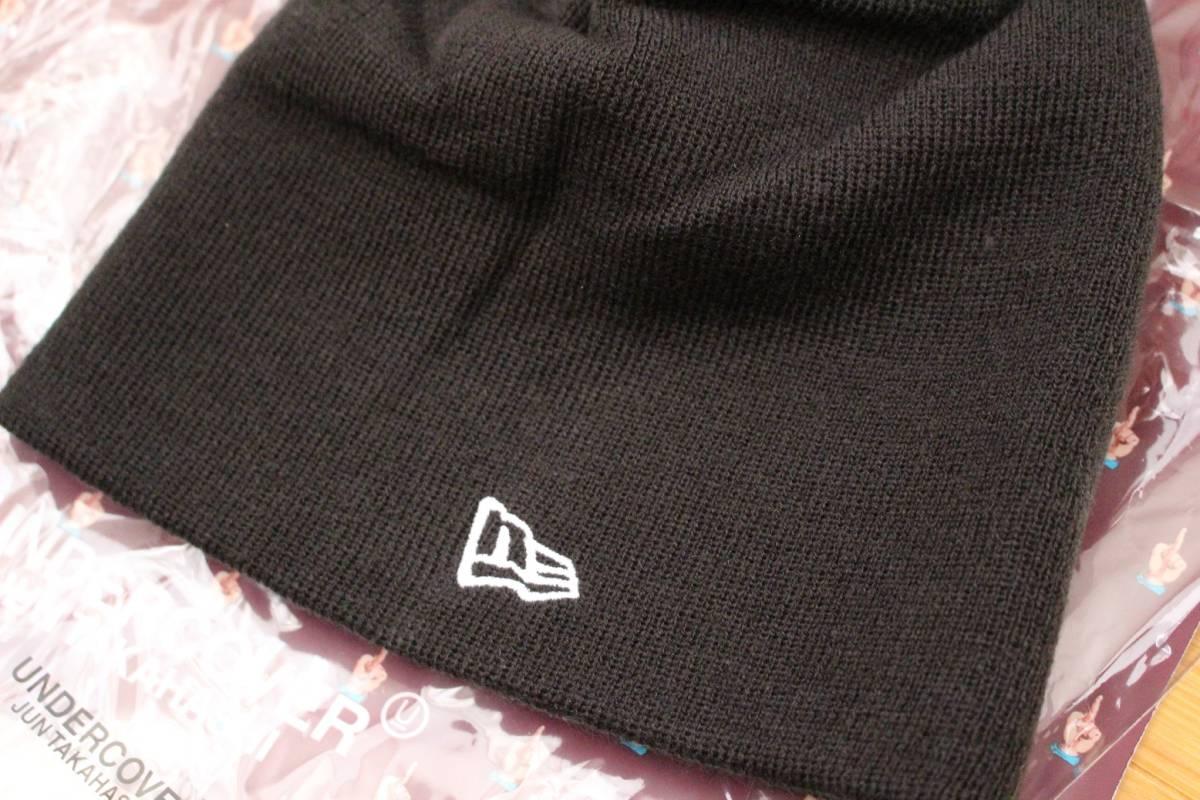 【新品】UNDERCOVER x NEW ERA Uロゴニット キャップ 黒 / アンダーカバー ニューエラ BLACK CAP 正規品 フリーサイズ_画像2