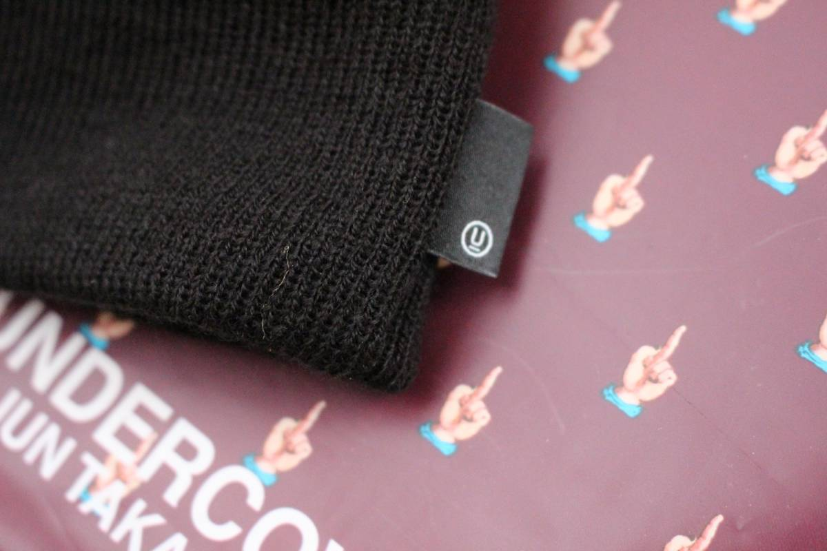 【新品】UNDERCOVER x NEW ERA Uロゴニット キャップ 黒 / アンダーカバー ニューエラ BLACK CAP 正規品 フリーサイズ_画像4