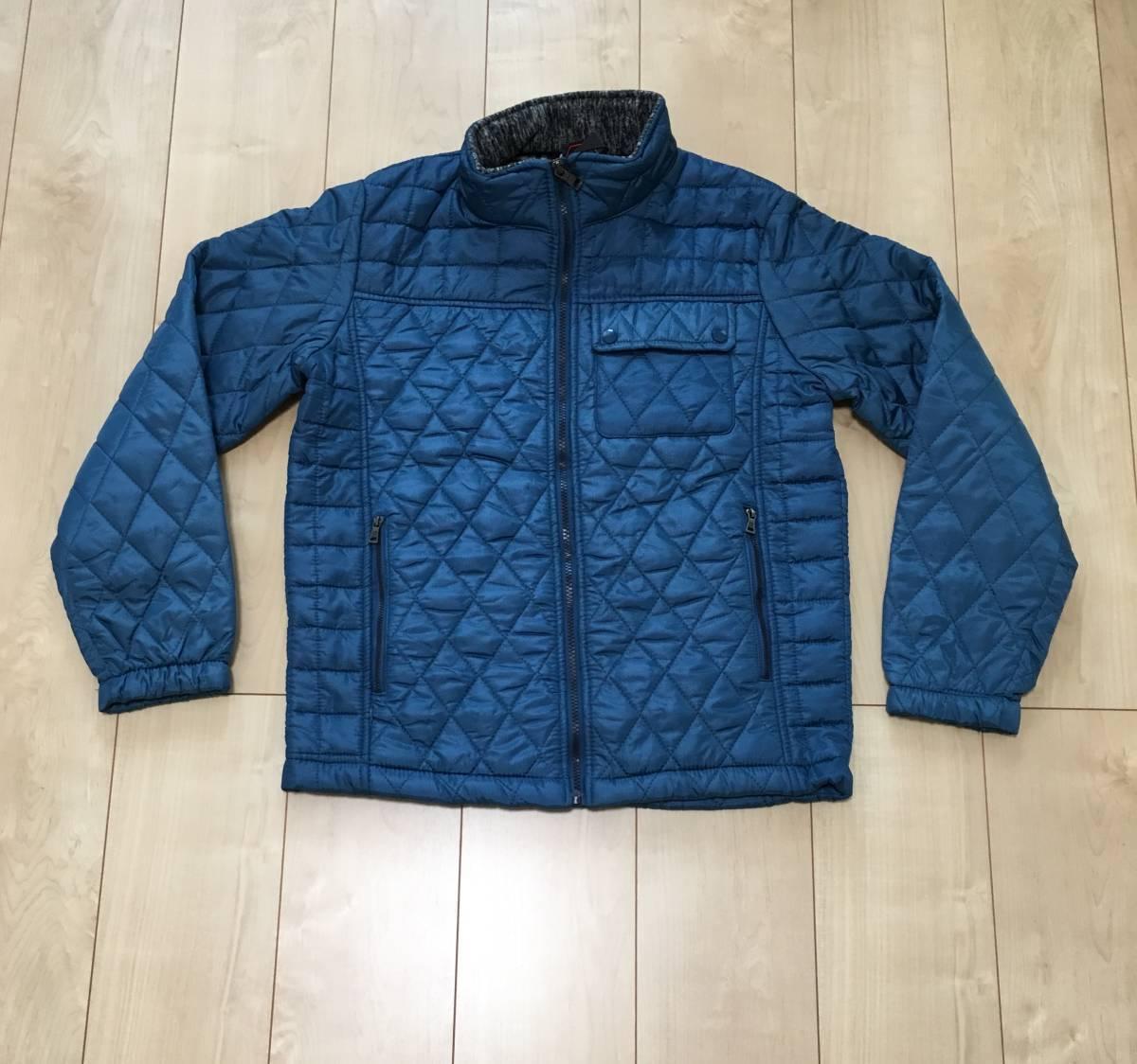 新品1657 欧州ALPACROSS ダウンハイブリッドジャケット L ブルー