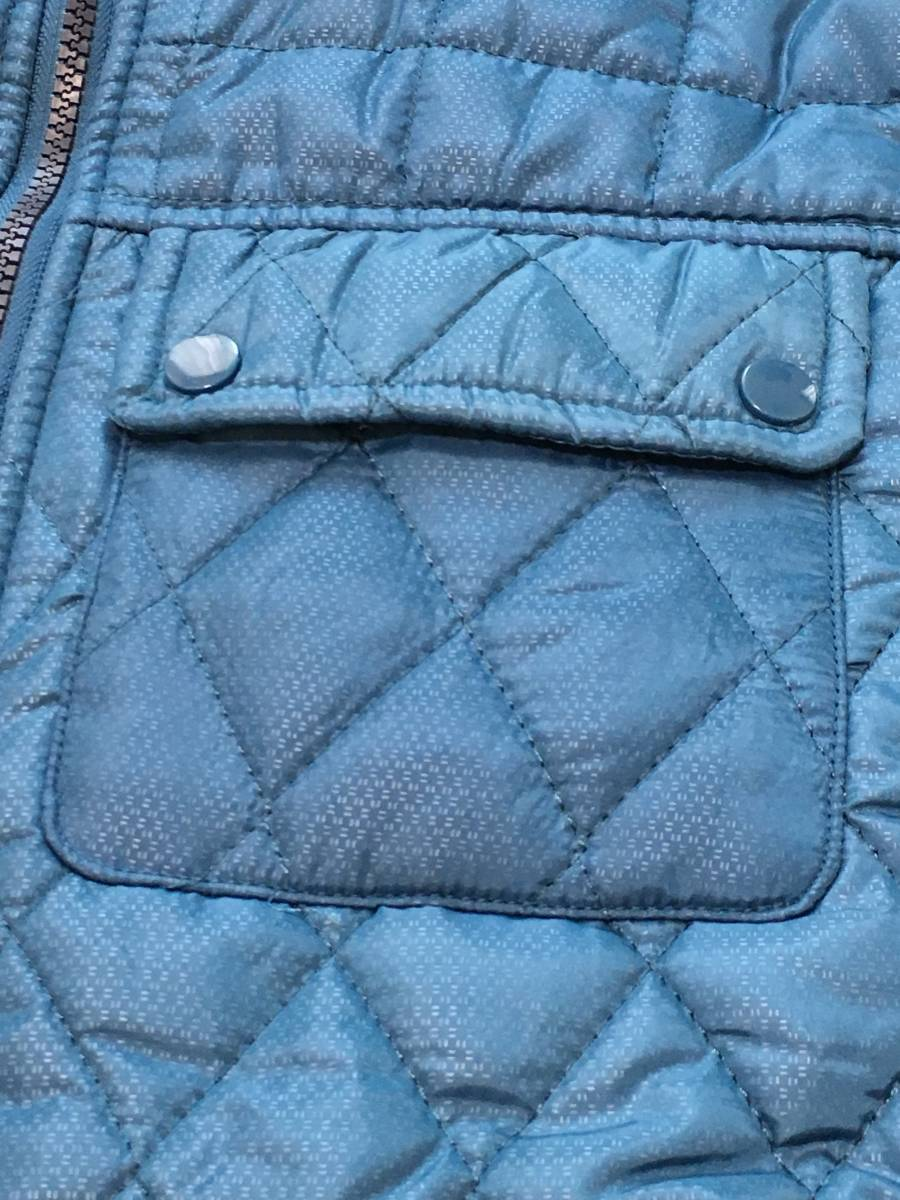 新品1657 欧州ALPACROSS ダウンハイブリッドジャケット L ブルー_画像7