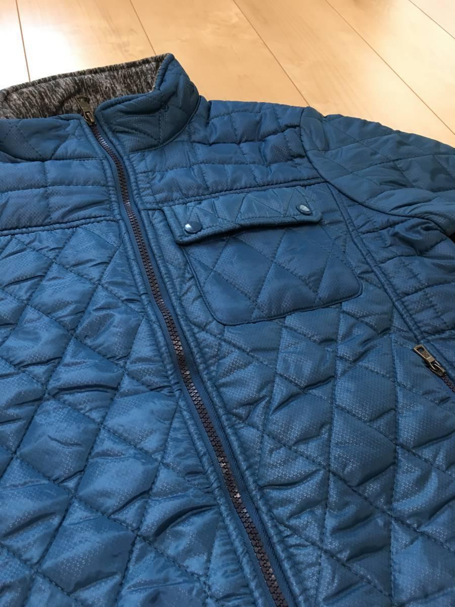 新品1657 欧州ALPACROSS ダウンハイブリッドジャケット L ブルー_画像6