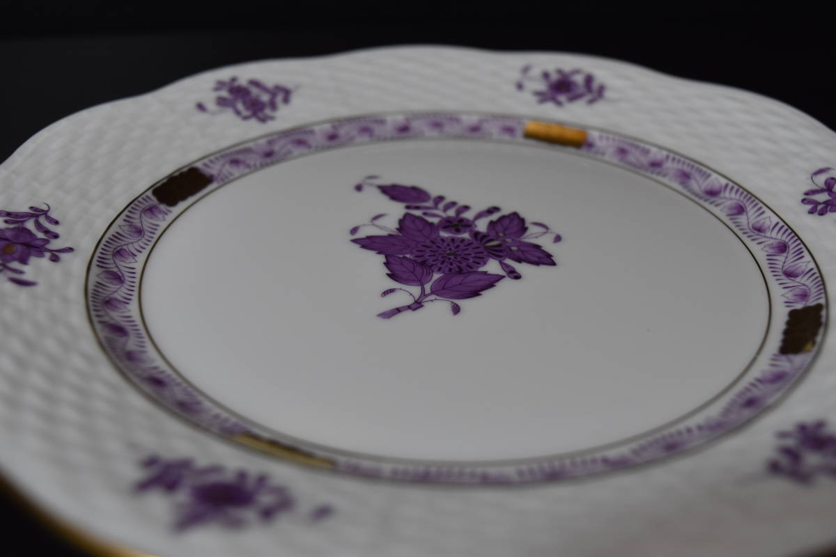 HEREND ヘレンド アポニーパープル トリオ カップ&ソーサー 紫色 金彩_画像5