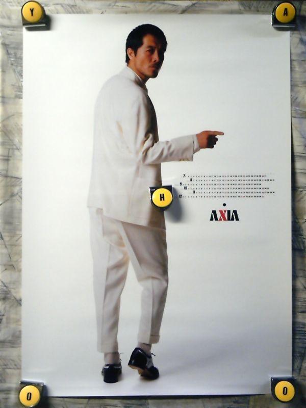 SH【ポスター/B-2-515x728】矢沢永吉-AXIA'89頃-B/販促用非売品ポスター_画像1