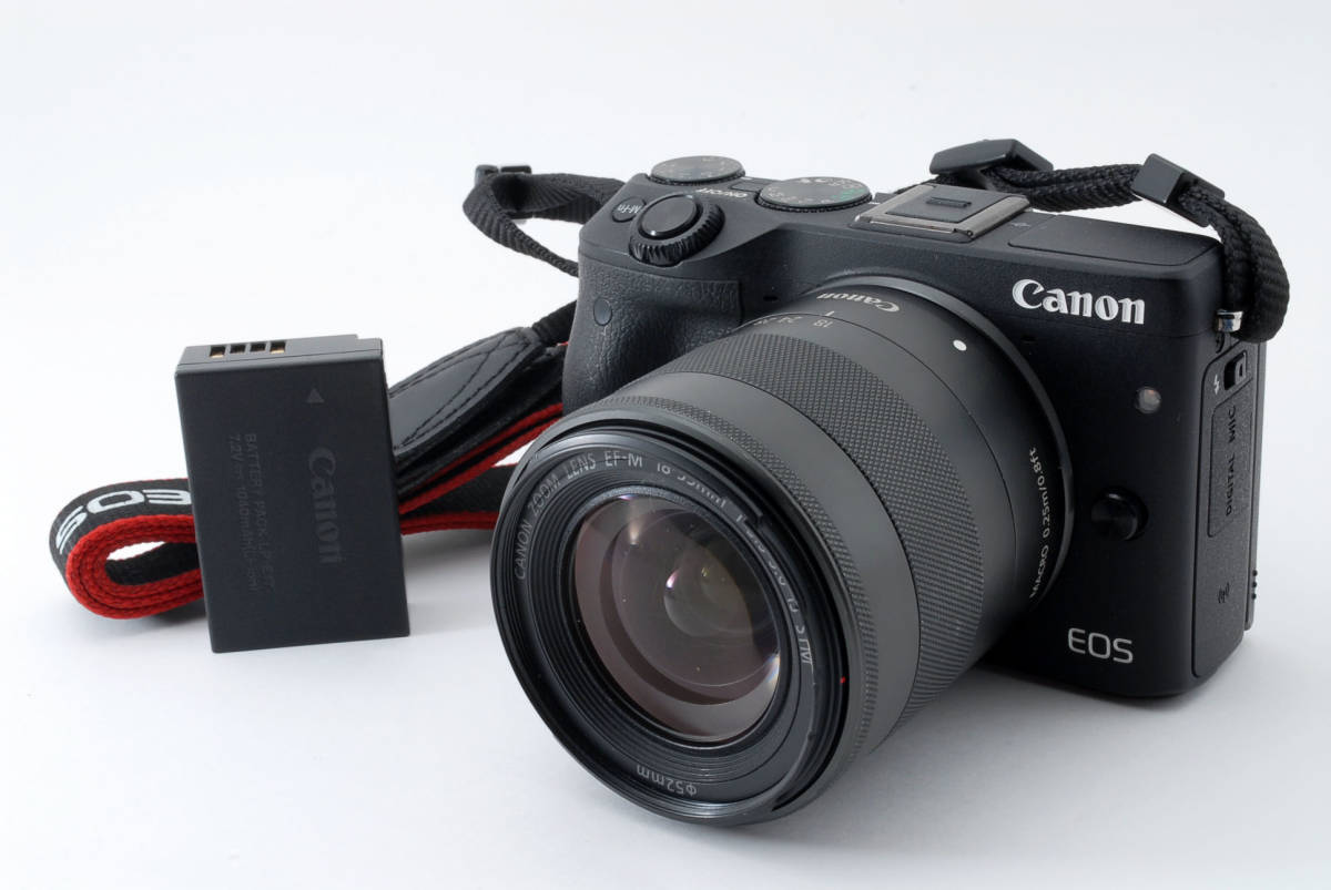 ★☆ CANON キヤノン M3 / EF-M 18-55mm F3.5-5.6 IS STM レンズキット【充電器なし】★☆