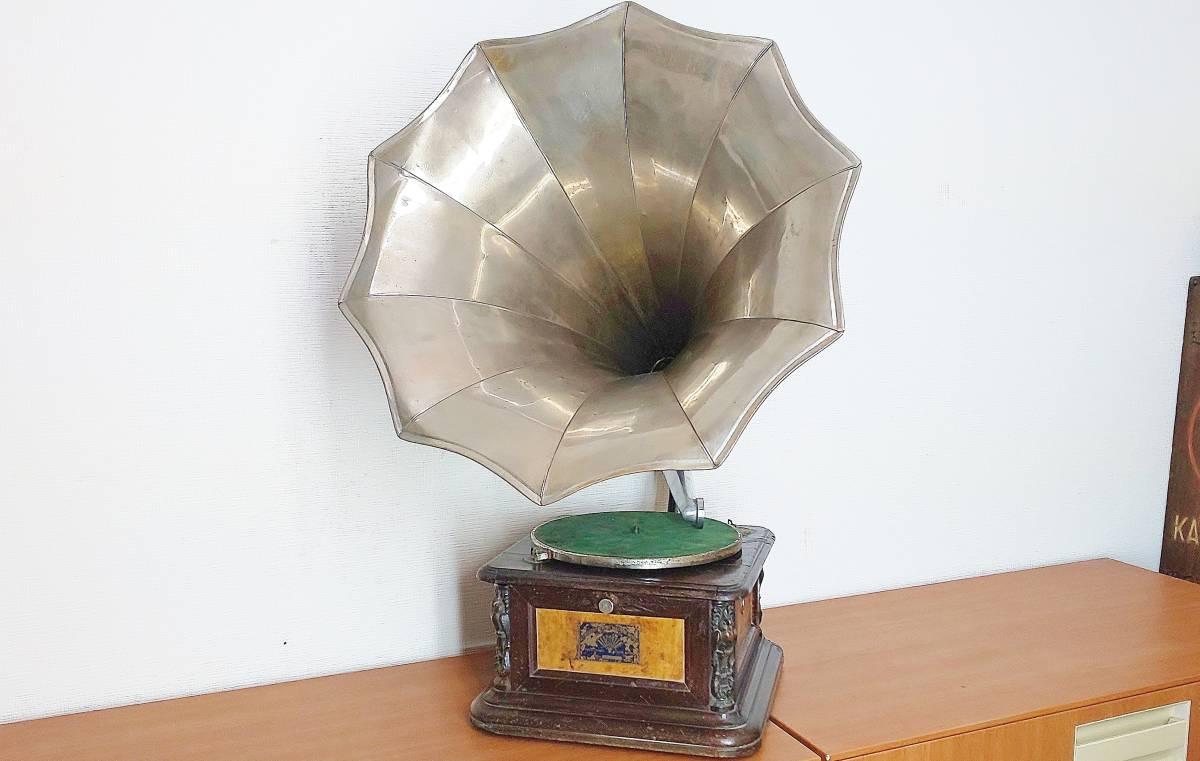 ジャンク 難あり 精工舎  seikosha アンティーク ラッパ蓄音機 蓄音器  喇叭 蓄音機 大正時代