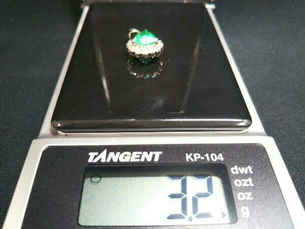Pt900 天然エメラルド1.40ct ダイヤモンド0.33ct エメラルド レディース アクセサリー ネックレストップ トップ 鑑別書付き 総重量 3.2g_画像5