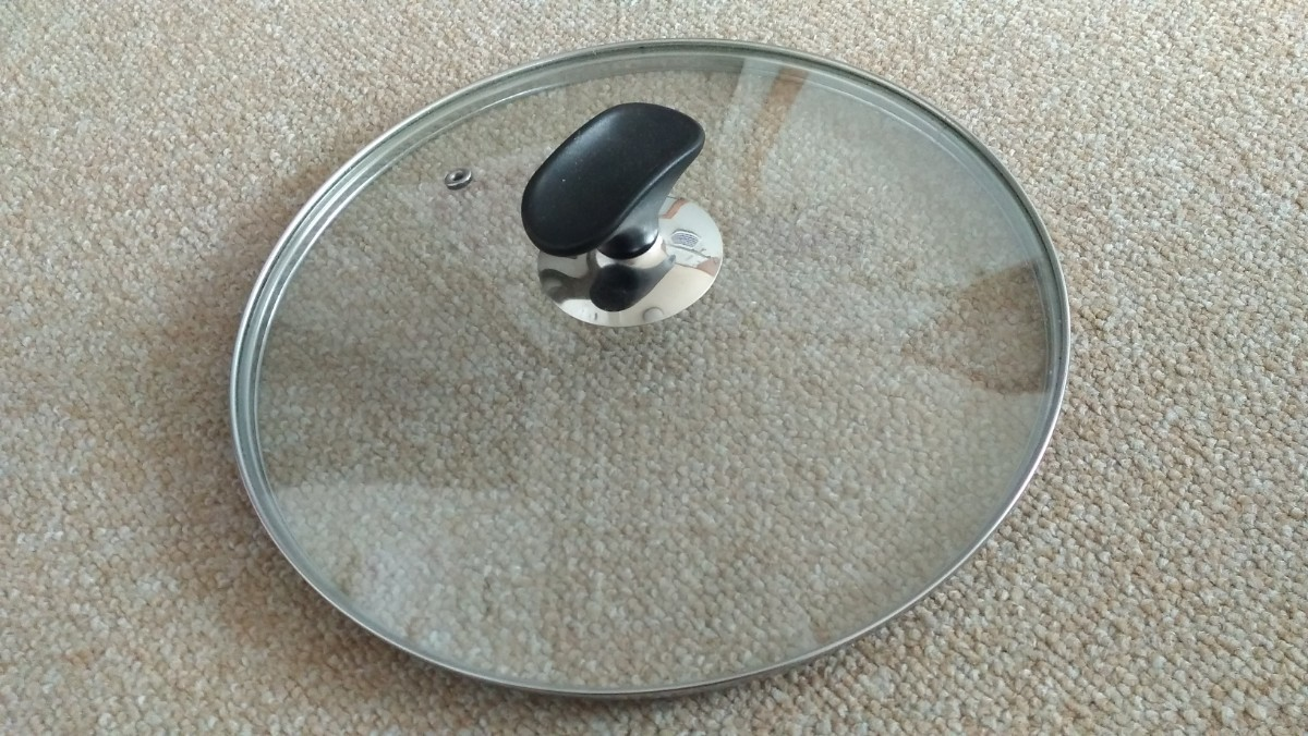 箸置き付ガラス蓋 26cm フライパン蓋 鍋ブタ