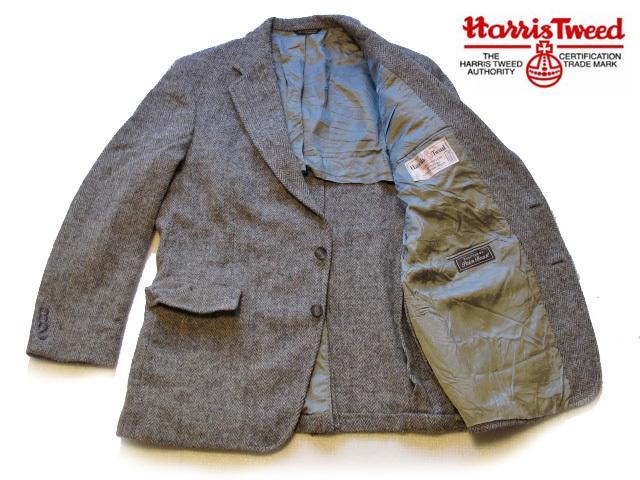 ◆美品 70'sビンテージ Hunter Haig USA製 Harris Tweed ハリスツイード ヘリンボーン織 テーラードジャケット 最高級ピュアウール100%_画像2