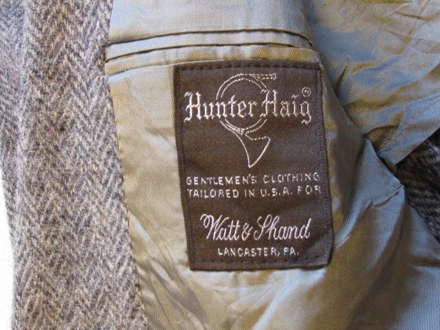 ◆美品 70'sビンテージ Hunter Haig USA製 Harris Tweed ハリスツイード ヘリンボーン織 テーラードジャケット 最高級ピュアウール100%_画像4