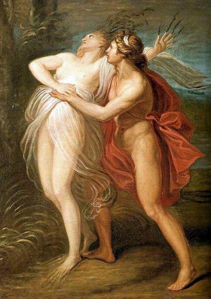 模写油絵 Appiani_アポロとダフネ MA1802  ユーラシアアート
