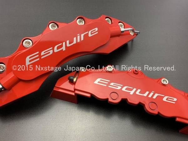 ◆Esquire銀◇汎用高品質キャリパーカバーL/Mサイズ(赤)/TOYOTA トヨタ エスクァイア 80系 ESQUIRE ZWR80G ZRR80G ZRR85G_画像3