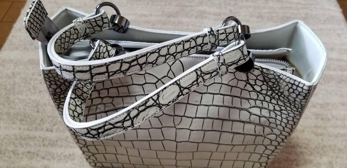 クロコダイルバッグ 日本製 定価84万円 新品未使用送料無料_画像1