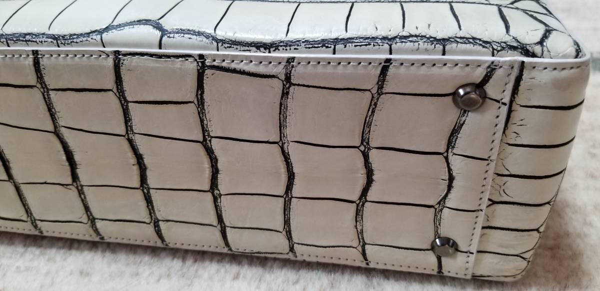 クロコダイルバッグ 日本製 定価84万円 新品未使用送料無料_画像10