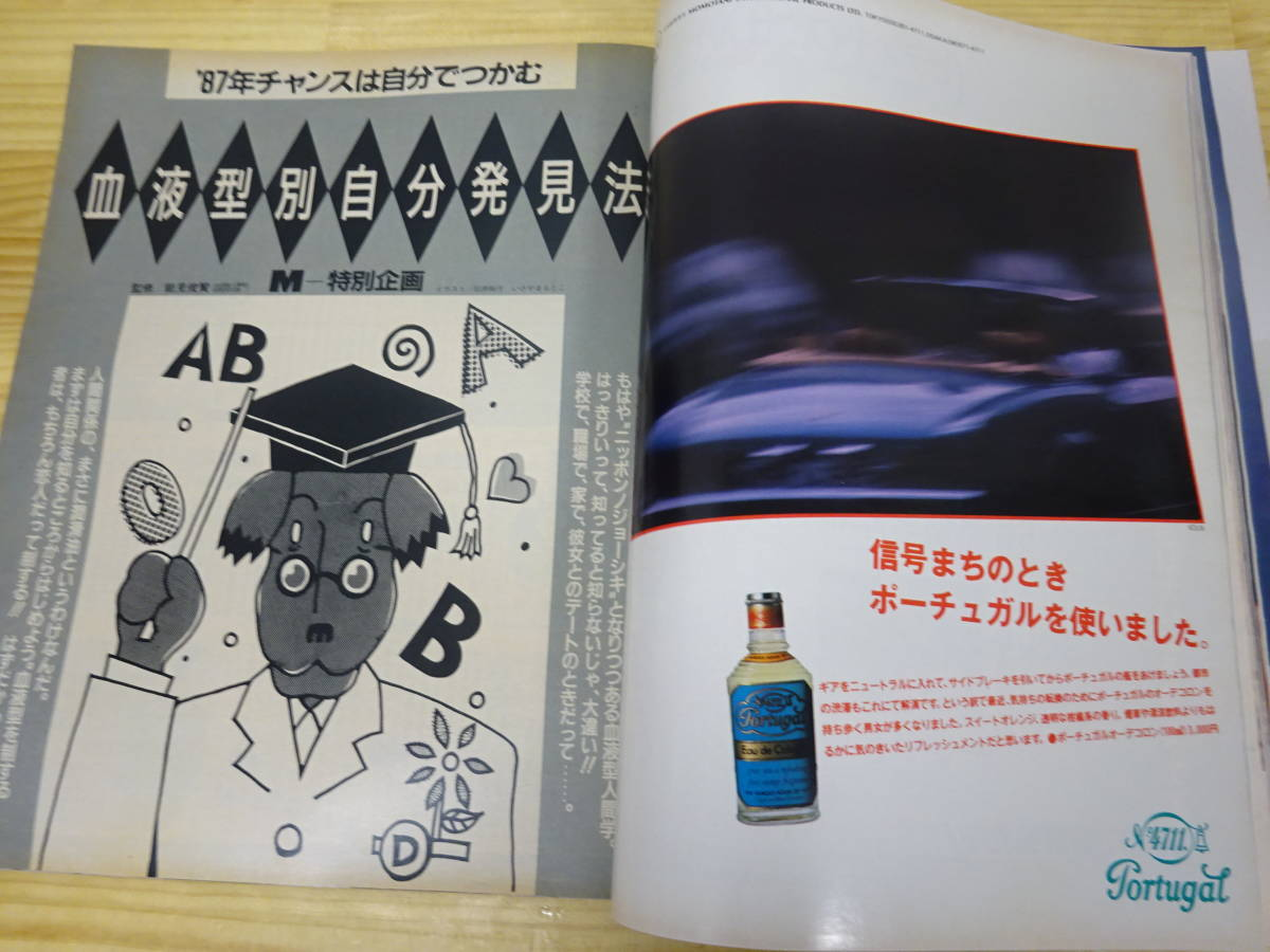 K/え4☆ MEN'S NON-NO メンズノンノ 1987年 3月号 メンズファッション  阿部寛 布施敏和 富田靖子_画像6