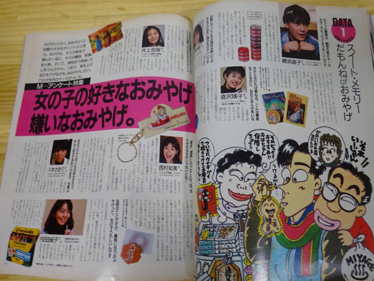 K/え4☆ MEN'S NON-NO メンズノンノ 1987年 3月号 メンズファッション  阿部寛 布施敏和 富田靖子_画像7
