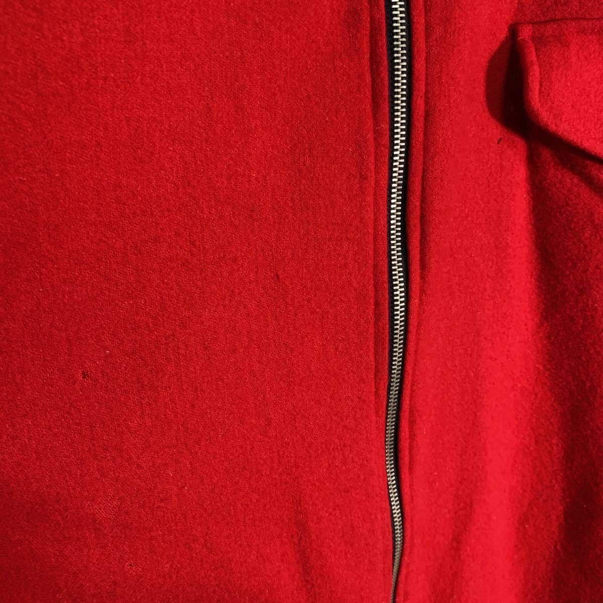 【送料込】90s Marlboro リバーシブル ウール ジャケット XL 黒×赤 ビッグシルエット ジップ マルボロ 80s ビンテージ 古着 オールド_画像7
