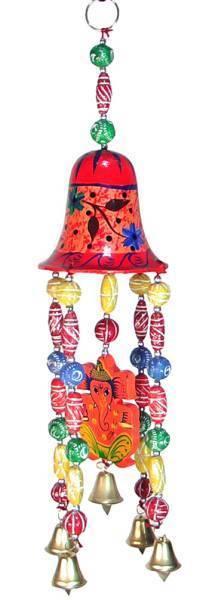 インドの天井飾り 釣り鐘とガネーシャ アジアン雑貨 エスニック_画像1