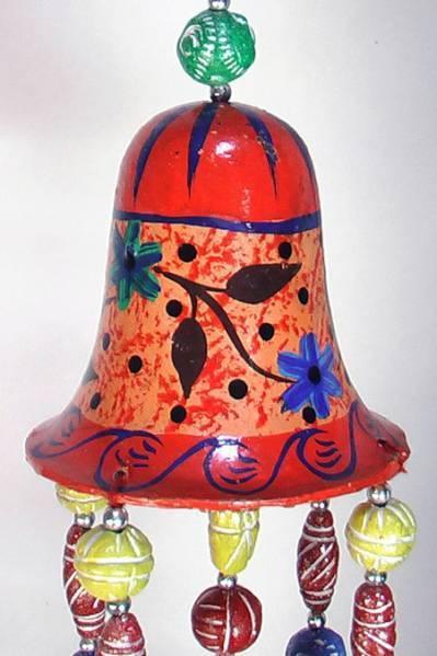 インドの天井飾り 釣り鐘とガネーシャ アジアン雑貨 エスニック_画像2