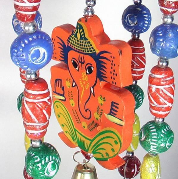 インドの天井飾り 釣り鐘とガネーシャ アジアン雑貨 エスニック_画像3