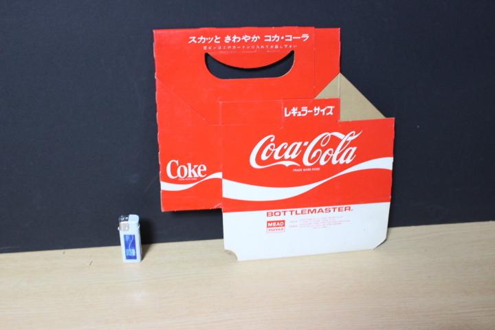 ■ わ-422 コカ・コーラ 瓶入れ カートン(紙製)レギュラーサイズ 未使用保管品 ボトルケース 当時物 貴重 希少 ※寸法は画像下参照_縦23.3cm横23.7cm