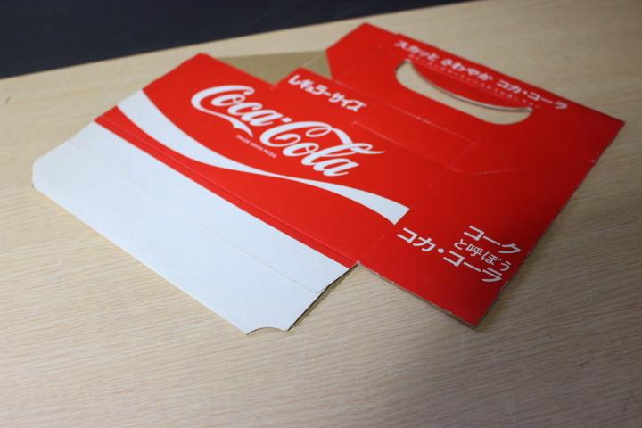 ■ わ-422 コカ・コーラ 瓶入れ カートン(紙製)レギュラーサイズ 未使用保管品 ボトルケース 当時物 貴重 希少 ※寸法は画像下参照_画像6