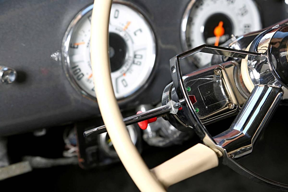 汎用 ユニバーサル ターンシグナル ウインカーレバー スイッチ 旧車 アメ車 空冷 VW バス ビートル ハザード ホットロッド Mooneyes Kustom_画像8