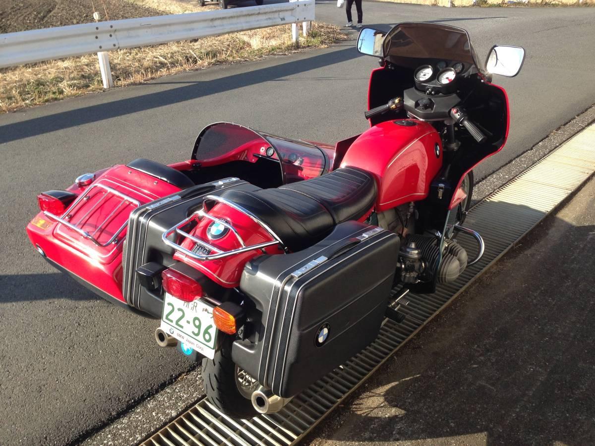 動画有 狭山市 車検取得 BMW R100RS 日本製 サイドカー オートクラフト製 30075Km 車検令和4年4月ワンオーナー車 登録証 側車付オートバイ_乗車定員3人