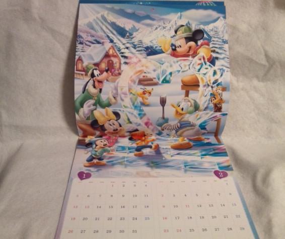 非売品 2020年 令和二年 ディズニー 壁掛け カレンダー ミッキーマウス ミニーマウス d POINT CLUB 送料込み ドナルドダック_非売品 ディズニー 令和2年 カレンダー