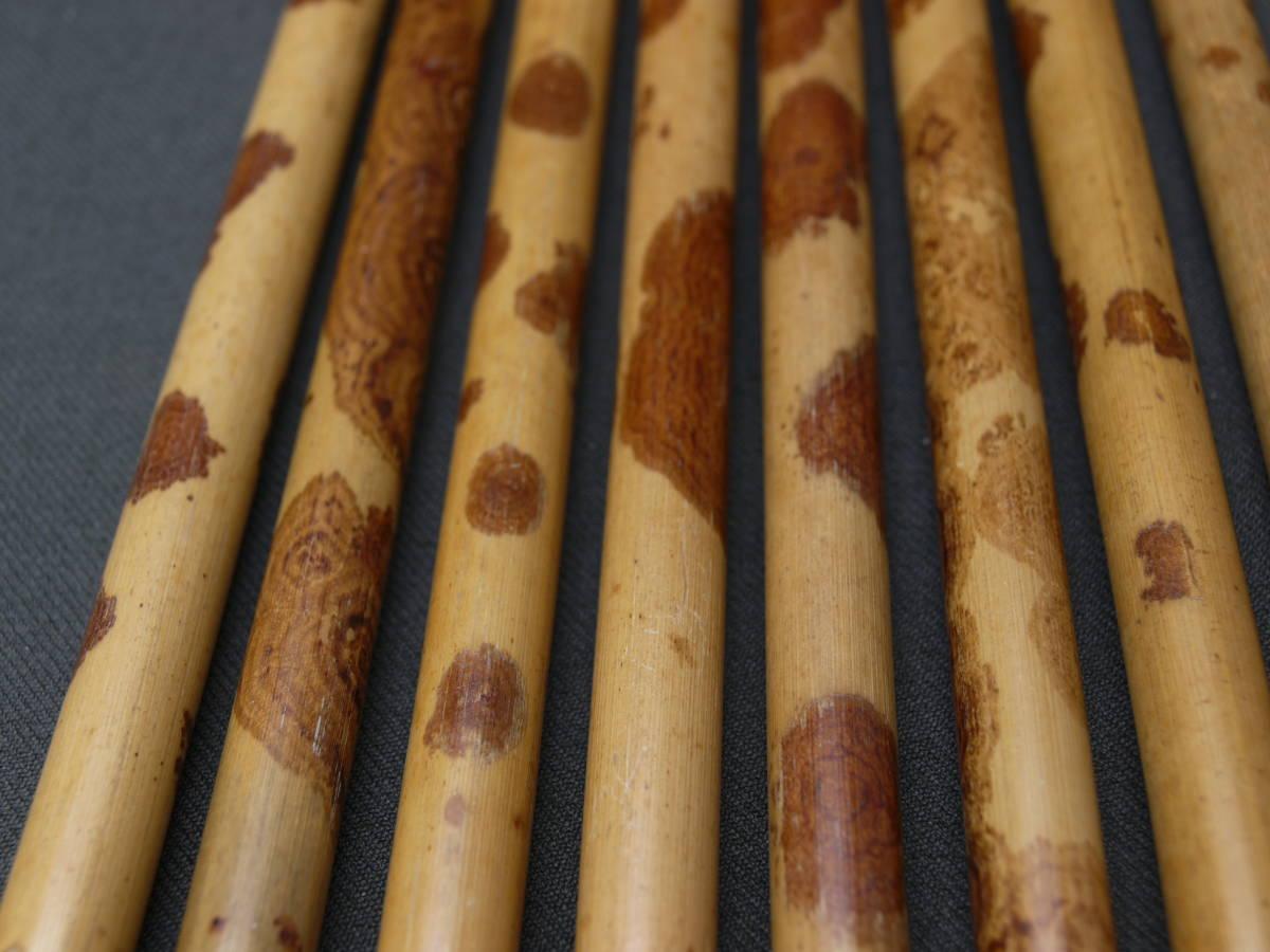 書道 筆 毛筆 斑竹 紅斑竹 水牛角 筆部品 柄 毛はありません 太筆 10本 筆の修理に 極上斑竹使用 矢立 香筒 楽器 製作にも _画像5