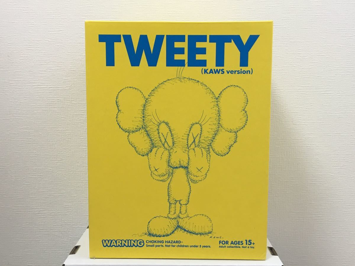 New Medicom Toy Kaws Version TWEETY KAWS YELLOW