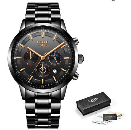 腕時計メンズ LIGE ファッションスポーツクォーツ時計メンズ腕時計トップブランドの高級ビジネス防水時計レロジオ Masculino k-2179_画像6