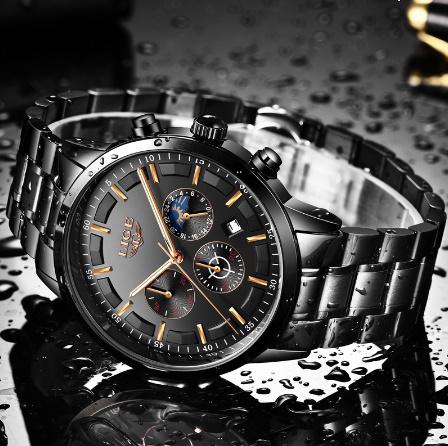 腕時計メンズ LIGE ファッションスポーツクォーツ時計メンズ腕時計トップブランドの高級ビジネス防水時計レロジオ Masculino k-2179_画像5