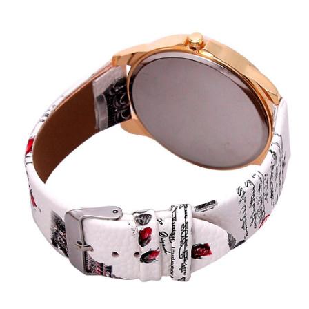ヴィンテージ パリエッフェル塔 女性クォーツ腕時計 女の子 女性学生 カジュアル腕時計 k-2223_画像4