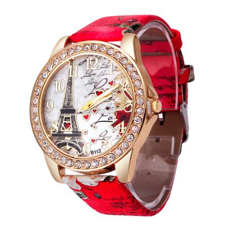 ヴィンテージ パリエッフェル塔 女性クォーツ腕時計 女の子 女性学生 カジュアル腕時計 k-2223_画像2