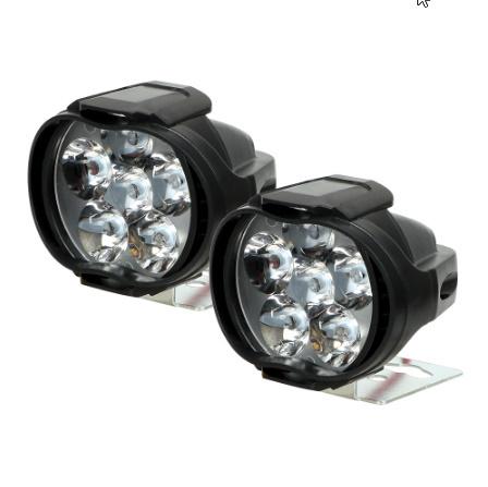 1 ペアオートバイヘッドライト 6500 18k ホワイト超高輝度 6 LED 作業スポットライトバイクフォグランプ 1200LM LED  k-2258_画像4