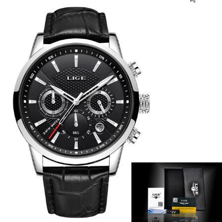 腕時計メンズファッションスポーツクォーツ 時計メンズブランド 高級レザービジネス防水時計 レロジオ Masculino k-2311_画像9