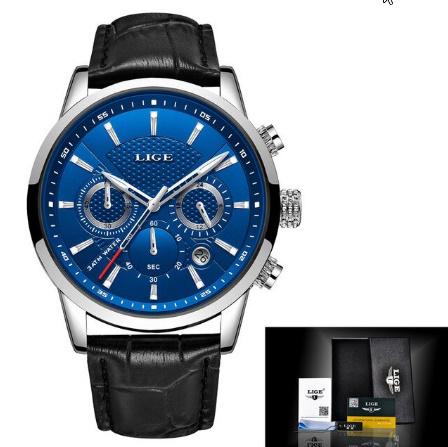 腕時計メンズファッションスポーツクォーツ 時計メンズブランド 高級レザービジネス防水時計 レロジオ Masculino k-2311_画像10