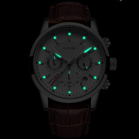 腕時計メンズファッションスポーツクォーツ 時計メンズブランド 高級レザービジネス防水時計 レロジオ Masculino k-2311_画像6