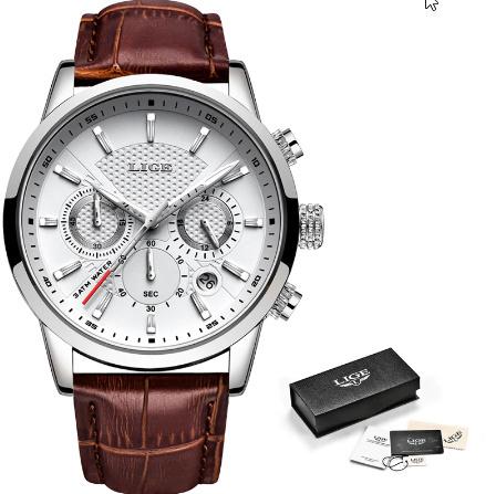 腕時計メンズファッションスポーツクォーツ 時計メンズブランド 高級レザービジネス防水時計 レロジオ Masculino k-2311_画像5