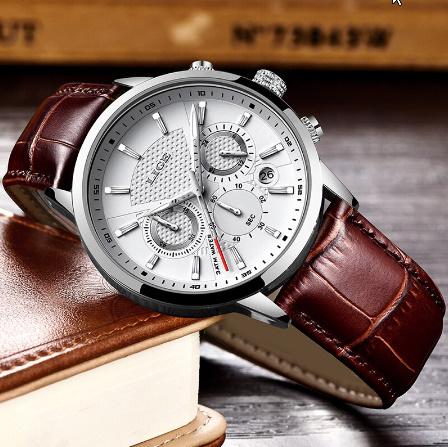 腕時計メンズファッションスポーツクォーツ 時計メンズブランド 高級レザービジネス防水時計 レロジオ Masculino k-2311_画像3