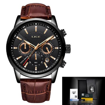 腕時計メンズファッションスポーツクォーツ 時計メンズブランド 高級レザービジネス防水時計 レロジオ Masculino k-2311_画像8