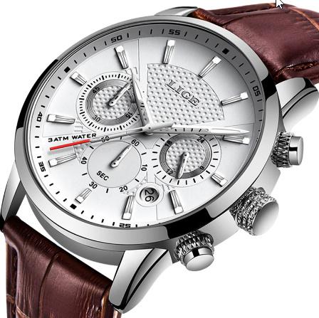 腕時計メンズファッションスポーツクォーツ 時計メンズブランド 高級レザービジネス防水時計 レロジオ Masculino k-2311_画像1