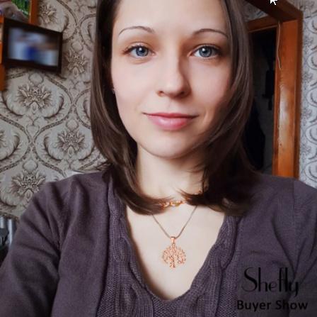 生活の木 ペンダントチョーカーネックレス女性ジュエリーファッション クリスタル ステートメントネックレス k-2342_画像6