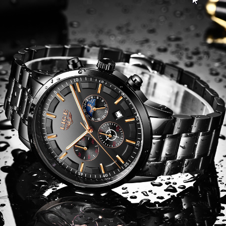 腕時計メンズ LIGE ファッションスポーツクォーツ時計メンズ腕時計トップブランドの高級ビジネス防水時計レロジオ Masculino k-2303_画像5