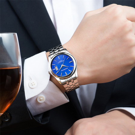 トップブランド 高級メンズ腕時計 30m 防水日付時計男性スポーツ腕時計 男性クォーツカジュアル腕時計レロジオ k-2432_画像5