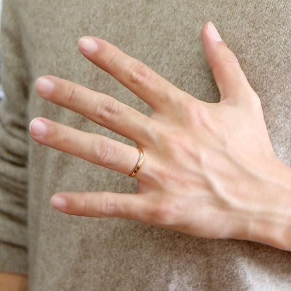結婚指輪 安い ダイヤモンド ゴールド ペアリング 2本セット 18金 マリッジリング 地金 ピンクゴールドk18 18k シンプル ピンク 送料無料_画像7
